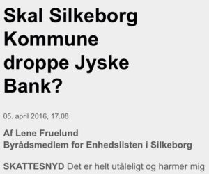 "Financial help for lawyer search In the case against Danish bank jyske bank for fraud. :-) Indsæt dit bidrag her. Insert your contribution here Reg. 5479 konto nr. 0004563376 IBAN-kontonummer Account DK0854790004563376 ---------------------- The Danish Bank, deceiving the customer with false loans, and by fraud raises the JYSKE BANK interest rates for a loan that does not exist. :-( Jyske Bank refuses dialogue with the customer, while jyske bank just continue with the fraud crime. FRAUD as Jyske Bank's management CEO Anders Dam from the customer is informed about may 25, 2016 ---------------------- In Danish See more at www.banknyt.dk Pictures of the little annex, the evidence of fraud: https://facebook.com/pg/JyskeBank.dk/photos/?tab=albums&ref=page_internal&mt_nav=1 ------------------------ Small family struggling against Jyske Bank. Jyske Bank has in the 9 years lied to the family about the fake loans, at the 4.328.000 dkkr. To be able to take 2.5 million dkkr in interest from the customer, for a loan the royal bank By not availablenot, but the bank lying about. Jyske bank refuses dialogue. When jyske bank only wants to answer the of the bank's clients who discovers that jyske bank is doing fraud and false in the court. For jyske bank, it is about the law Must jyske bank low fraud and a fake. It wants the Bank the court the words for. Therefore, seeking the family, the financial support to the attorney. ----------------------- Want ATP pension to support jyske bank with the fraud of customers at jyske bank Talking about COUNTERFEITING, EXPLOITATION, FRAUD, breach of MANDATE. violating all the rules and good practice, to be able to yield, fraud < < to deceive the customer at jyske bank And allows ATP PFA, PENSAM and other shareholders jyske bank in now 9 years Has deceived his customer in jyske bank using fake loans, in order to be able to manipulate the client, who was ill after a stroke The customer who did not die and or should have ATP paid to his wife Is småsur over the management of the jyske bank refuses to answer the customer ------------------------ The Danish bank. Jyske Bank Continue fraud by the customer on the 9'end of the year. Although jyske bank CEO Anders Dam. At least 2 years have had the knowledge that the bank is doing fraud. Jyske Bank raises the interest rates of the loans, which do not exist, but as jyske bank, dishonorable and dishonest continues lying in order to cheat the bank's customers. Jyske Bank refuses to stop the fraud of the bank's customer. :-) :-) Die Dänische bank. Betriebe Der JYSKE Bank Weiter Betrug durch den Kunden auf der 9'Ende des Jahres. Obwohl Betriebe der JYSKE bank-CEO Anders Dam Mindestens 2 Jahre haben die Kenntnis, dass die bank tun Betrug. Betriebe der JYSKE bank erhöht die Zinsen der Kredite, die nicht existieren, sondern als Betriebe der JYSKE bank, unehrenhaft und unehrlich ist, weiter zu Lügen, um zu betrügen die Kunden der bank. Betriebe der JYSKE Bank sich weigert zu stoppen, Betrug von Kunden der bank. :-) :-) את דנית הבנק. Jyske Bank המשך הונאה על ידי הלקוח ב-9'סוף השנה. למרות jyske מנכ "" ל הבנק אנדרס הסכר לפחות 2 שנים יש לו את הידע, כי הבנק עושה הונאה. jyske הבנק מעלה את הריבית של הלוואות אשר לא קיימים, אבל כפי jyske bank, מבישה ולא ישר ממשיכה לשקר על מנת לרמות לקוחות הבנק. Jyske הבנק מסרב להפסיק את ההונאה של לקוחות הבנק :-) :-) La banca danese. Jyske Bank Continua frode da parte del cliente il 9'fine dell'anno. Anche se jyske bank CEO Anders Diga Almeno 2 anni di avere avuto conoscenza che la banca sta facendo la frode. jyske bank alza i tassi di interesse dei prestiti che non esistono, ma come jyske bank, disonorevole e disonesti continua distesa per imbrogliare i clienti della banca. Jyske Bank si rifiuta di interrompere la frode dei clienti della banca. :-) :-) デンマークの銀行です。 Jyske銀行 続き 詐欺により、お客様の9'末ます。 がjyske銀行のCEO Andersダム 少なくとも2年間の知識、日本銀行では詐欺です。 jyske銀行の金利の貸出はありませんが、jyske銀行dishonorable、不正の続きの添い寝のためのチ日本銀行のお客様です。 Jyske銀行の拒否を停止する不正の日本銀行のお客様です。 :-) :-) Duński bank. Jyske Bank Dalej oszustwa ze strony klientów na 9'koniec roku. Chociaż dyrektor generalny jyske bank dam Anders Co najmniej 2 lata wiedza o tym, że bank zajmuje się oszustwem. Jyske bank podnosi oprocentowanie, które nie istnieją, ale jak джиске bank jest w porządku i nie fair nadal kłamie, aby oszukiwać klientów banku. Jyske Bank odmawia zaprzestania oszukiwanie klientów banku. :-) :-) Датский банк. Джиске Банк Далее мошенничества со стороны клиентов на 9'конец года. Хотя генеральный директор джиске банк дам Андерс Не менее 2 лет знание о том, что банк занимается мошенничеством. джиске банк поднимает процентные ставки по кредитам, которые не существуют, но как джиске банк, непорядочно и нечестно по-прежнему лжет, чтобы обманывать клиентов банка. Джиске Банк отказывается прекратить обман клиентов банка. :-) :-) El banco danés. Jyske Bank Continuar el fraude por el cliente en la 9'de fin de año. Aunque jyske bank CEO Anders Presa Al menos 2 años han tenido el conocimiento de que el banco está haciendo fraude. jyske bank eleva las tasas de interés de los préstamos que no existen, pero como jyske bank, deshonrosa y deshonesto sigue mintiendo con el fin de engañar a los clientes del banco. Jyske Bank se niega a detener el fraude de los clientes del banco. :-) :-) คนเดนมาร์กธนาคาร. Jyske ธนาคาร ทำต่อไป หลอกลโดยที่ลูกค้าที่ 9'สิ้นปี. ถึงแม้ว่า jyske ธนาคารของซีอีโอแอนเดอร์เด อย่างน้อย 2 ปีแล้วคนก็มีความรู้ที่ธนาคารกำลังทำอะไรเลยฐานต้มตุ๋นหลอกลวง jyske ธนาคารต่างหาที่สนใจการเต้นของเงินกู้นัซึ่งไม่มีตัวตนแต่ jyske ธนาคาร dishonorable และไม่ซื่อสัตย์ต่อไปโกหกเพื่อที่จะโกรธนาคารลูกค้าค่ะ Jyske ธนาคารปฏิเสธที่จะหยุดคนหลอกลของธนาคารลูกค้าค่ะ :-) :-) Danimarka Bankası. Jyske Bank Devam bu yıl 9' Müşteri tarafından dolandırıcılık;end. Ancak jyske bank CEO'SU Anders Dam En az 2 yıl banka dolandırıcılığı yaptığı bilgisi vardı. jyske bank bulunmayan kredilerin faiz oranlarını artırdı, ama jyske bankası olarak, onursuz ve sahtekar banka müşterileri aldatmak için yalan söylemeye devam ediyor. Jyske Bank müşterilerinin dolandırıcılık durdurmak için reddediyor. :-) :-) La banque danoise. Jyske Bank Continuer la fraude par le client sur le 9'à la fin de l'année. Bien que jyske bank chef de la direction Anders Barrage Au moins 2 ans ont eu la connaissance que la banque est en train de faire de la fraude. jyske bank soulève le taux d'intérêt des prêts qui n'existent pas, mais que jyske bank, déshonorante et malhonnête continue de mentir dans le but de tromper les clients de la banque. Jyske Bank refuse de cesser la fraude de la les clients de la banque. :-) :-) Den danske bank. Jyske Bank Fortætter svindel af kunde på 9'ende år. Selv om jyske bank CEO Anders Dam I mindst 2 år har haft viden om at banken laver bedrageri. jyske bank hæver renter af lån der ikke findes, men som jyske bank, uhæderligt og uærligt fortsætter, lyver om for at snyde bankens kunder. Jyske Bank nægter at stoppe svindlen af bankens kunder. :-) :-) Så hvad kan vi gøre, udover at blive røvet af jyske bank med falsk lån. :-) :-) Se mere på www.banknyt.dk Lille familie kæmper mod Jyske Bank. :-) :-) Jyske Bank har i 9 år løjet over for familien om falsk lån, på 4.328.000 dkkr. For at kunne tage 2.5 milioner kroner i rente fra kunden, for et lån jyske bank ved ikke findes, men bevist lyver om. Jyske bank nægter dialog. Da jyske bank kun ønsker at svare de af bankens kunder som opdager at jyske bank laver svig og falsk i retten. For jyske bank handler det om jura Må jyske bank lave svig og falsk. Det ønsker den store Danske Bank rettens ord for. Derfor søger familien øknomisk støtte til advokat. Derfor søger familien øknomisk støtte til advokat. :-) Støtte søges til sag, mod stor Dansk Bank som lave svig mod kunder. Indsæt dit bidrag her. Reg. 5479 konto nr. 0004563376 IBAN-kontonummer DK0854790004563376 swift NYKBDKKK Støtten buges til advokat regninger Hjælp til at stoppe svig i jyske bank mod bankens kunder."