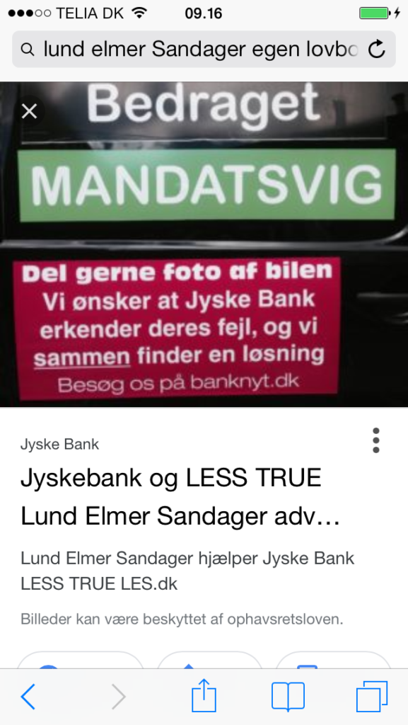 What does Lundgrens say to Great Danish Law Firm Lund Elmer Sandager at Partner Philip Baruch, helps the Danske Bank Jyske Bank and that Philip Baruch is lying in legal matters, and hides the truth to disappoint in legal matters. It should be mentioned that Philip Baruch holds several positions in Jyske Bank as an example is in the bank's board of directors, Lundgrens does not say anything but can be employed in Jyske Bank and does not present any of the plaintiffs' claims. A great and capable advocate and partner Dan Terkildsen is behind