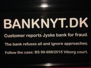 JYSKE BANKs SVINDEL / FRAUD - CALL / OPRÅB :-) Can the bank director CEO Anders Dam not understand We only want to talk with the bank, JYSKE BANK And find a solution, so we can get our life back We are talking about The last 10 years, the bank provisionally has deceived us. The Danish bank took 10 years from us. :-) Please talk to us #AndersChristianDam Rather than continue deceive us With a false interest rate swap, for a loan that has not never existed We write, and write, and write, while the bank continues the very deliberate fraud which the entire Group Board is aware of. :-) :-) A case that is so inflamed, that not even the Danish press does dare comment on it. do you think that there is something about what we are writing about. Would you ask the bank management Jyske Bank Link to the bank further down Why they will not answer their customer And deliver a copy of the loan, 4.328.000 DKK as the bank claiming the customer has borrowed i Nykredit As the Danish Bank changes interest rates, for the last 10 years, Actually since January 1, 2009 - Now the customer discovered and informed the Jyske Bank Jyske 3-bold Bank May 2016 that there was no loan taken. We are talking about fraud for millions, against just one customer :-) :-) Where do you come into contact with a fraudster who just does not want to stop deceiving you Have tried for over 2 years. DO YOU HAVE A SUGGESTION :-) from www.banknyt.dk Startede i jyske bank Helsingør I.L Tvedes Vej 7. 3000 Helsingør Dagblad Godt hjulpet af jyske bank medlemmer eller ansatte på Vesterbro, Vesterbrogade 9. Men godt assisteret af jyske bank hoved kontor i Silkeborg Vestergade Hvor koncern ledelsen / bestyrelsen ved Anders Christian Dam nu hjælper til med at dette svindel fortsætter Jyske Banks advokater som lyver for retten Tilbød 2-11-2016 forligs møde Men med den agenda at ville lave en rente bytte på et andet lån, for at sløre svindlen. ------------ Journalist Press just ask Danish Bank Jyske bank why the bank does not admit fraud And start to apologize all crimes. https://www.jyskebank.dk/kontakt/afdelingsinfo?departmentid=11660 :-) #Journalist #Press When the Danish banks deceive their customers a case of fraud in Danish banks against customers :-( :-( when the #danish #banks as #jyskebank are making fraud And the gang leader, controls the bank's fraud. :-( Anders Dam Bank's CEO refuses to quit. So it only shows how criminal the Danish jyske bank is. :-) Do not trust the #JyskeBank they are #lying constantly, when the bank cheats you The fraud that is #organized through by 3 departments, and many members of the organization JYSKE BANK :-( The Danish bank jyske bank is a criminal offense, Follow the case in Danish law BS 99-698/2015 :-) :-) Thanks to all of you we meet on the road. Which gives us your full support to the fight against the Danish fraud bank. JYSKE BANK :-) :-) Please ask the bank, jyske bank if we have raised a loan of DKK 4.328.000 In Danish bank nykredit. as the bank writes to their customer who is ill after a brain bleeding - As the bank is facing Danish courts and claim is a loan behind the interest rate swap The swsp Jyske Bank itself made 16-07-2008 https://facebook.com/JyskeBank.dk/photos/a.1468232419878888.1073741869.1045397795495688/1468234663211997/?type=3&source=54&ref=page_internal :-( contact the bank here https://www.jyskebank.dk/omjyskebank/organisation/koncernledergruppe - Also ask about date and evidence that the loan offer has been withdrawn in due time before expiry :-) :-) And ask for the prompt contact to Nykredit Denmark And ask why (new credit bank) Nykredit, first would answer the question, after nykredit received a subpoena, to speak true. - Even at a meeting Nykredit refused to sign anything. Not to provide evidence against Jyske Bank for fraud - But after several letters admit Nykredit Bank on writing - There is no loan of 4.328.000 kr https://facebook.com/JyskeBank.dk/photos/a.1051107938258007.1073741840.1045397795495688/1344678722234259/?type=3&source=54&ref=page_internal :-( :-( So nothing to change interest rates https://facebook.com/JyskeBank.dk/photos/a.1045554925479975.1073741831.1045397795495688/1045554998813301/?type=3&source=54&ref=page_internal Thus admit Nykredit Bank that their friends in Jyske Bank are making fraud against Danish customers :-( :-( :-( Today June 29th claims Jyske Bank that a loan of DKK 4.328.000 Has been reduced to DKK 2.927.634 and raised interest rates DKK 81.182 https://facebook.com/JyskeBank.dk/photos/a.1046306905404777.1073741835.1045397795495688/1755579747810819/?type=3&source=54 :-) :-) Group management jyske bank know, at least since May 2016 There is no loan of 4.328.000 DKK And that has never existed. And the ceo is conscious about the fraud against the bank's customer :-) Nevertheless, the bank continues the fraud But now with the Group's Board of Directors knowledge and approval :-) The bank will not respond to anything Do you want to investigate the fraud case as a journalist? :-( :-( Fraud that the bank jyske bank has committed, over the past 10 years. :-) :-) https://facebook.com/story.php?story_fbid=10217380674608165&id=1213101334&ref=bookmarks Will make it better, when we share timeline, with link to Appendix :-) www.banknyt.dk /-----------/ #ANDERSDAM I SPIDSEN AF DEN STORE DANSKE NOK SMÅ #KRIMINELLE #BANK #JYSKEBANK Godt hjulpet af #Les www.les.dk #LundElmerSandager #Advokater :-) #JYSKE BANK BLEV OPDAGET / TAGET I AT LAVE #MANDATSVIG #BEDRAGERI #DOKUMENTFALSK #UDNYTTELSE #SVIG #FALSK :-) Banken skriver i fundamentet at jyskebank er #TROVÆRDIG #HÆDERLIG #ÆRLIG DET ER DET VI SKAL OPKLARE I DENNE HER SAG. :-) Offer spørger flere gange om jyske bank har nogle kommentar eller rettelser til www.banknyt.dk og opslag Jyske bank svare slet ikke :-) :-) We are still talking about 10 years of fraud Follow the case in Danish court Denmark Viborg BS 99-698/2015 :-) :-) Link to the bank's management jyske bank ask them please If we have borrowed DKK 4.328.000 as offered on May 20, 2008 in Nykredit The bank still take interest on this alleged loan in the 10th year. and refuses to answer anything :-) :-) Funny enough for all that loan is not existing just ask jyske bank why the bank does not admit fraud And start to apologize all crimes. https://www.jyskebank.dk/kontakt/afdelingsinfo?departmentid=11660 #Bank #AnderChristianDam #Financial #News #Press #Share #Pol #Recommendation #Sale #Firesale #AndersDam #JyskeBank #ATP #PFA #MortenUlrikGade #PhilipBaruch #LES #GF #BirgitBushThuesen #LundElmerSandager #Nykredit #MetteEgholmNielsen #Loan #Fraud #CasperDamOlsen #NicolaiHansen #gangcrimes #crimes :-) just ask jyske bank why the bank does not admit fraud And start to apologize all crimes. https://www.jyskebank.dk/kontakt/afdelingsinfo?departmentid=11660 #Koncernledelse #jyskebank #Koncernbestyrelsen #SvenBuhrkall #KurtBligaardPedersen #RinaAsmussen #PhilipBaruch #JensABorup #KeldNorup #ChristinaLykkeMunk #HaggaiKunisch #MarianneLillevang #Koncerndirektionen #AndersDam #LeifFLarsen #NielsErikJakobsen #PerSkovhus #PeterSchleidt / IMG_0927
