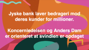 JYSKE BANKs SVINDEL / FRAUD - CALL / OPRÅB :-) Can the bank director CEO Anders Dam not understand We only want to talk with the bank, JYSKE BANK And find a solution, so we can get our life back We are talking about The last 10 years, the bank provisionally has deceived us. The Danish bank took 10 years from us. :-) Please talk to us #AndersChristianDam Rather than continue deceive us With a false interest rate swap, for a loan that has not never existed We write, and write, and write, while the bank continues the very deliberate fraud which the entire Group Board is aware of. :-) :-) A case that is so inflamed, that not even the Danish press does dare comment on it. do you think that there is something about what we are writing about. Would you ask the bank management Jyske Bank Link to the bank further down Why they will not answer their customer And deliver a copy of the loan, 4.328.000 DKK as the bank claiming the customer has borrowed i Nykredit As the Danish Bank changes interest rates, for the last 10 years, Actually since January 1, 2009 - Now the customer discovered and informed the Jyske Bank Jyske 3-bold Bank May 2016 that there was no loan taken. We are talking about fraud for millions, against just one customer :-) :-) Where do you come into contact with a fraudster who just does not want to stop deceiving you Have tried for over 2 years. DO YOU HAVE A SUGGESTION :-) from www.banknyt.dk Startede i jyske bank Helsingør I.L Tvedes Vej 7. 3000 Helsingør Dagblad Godt hjulpet af jyske bank medlemmer eller ansatte på Vesterbro, Vesterbrogade 9. Men godt assisteret af jyske bank hoved kontor i Silkeborg Vestergade Hvor koncern ledelsen / bestyrelsen ved Anders Christian Dam nu hjælper til med at dette svindel fortsætter Jyske Banks advokater som lyver for retten Tilbød 2-11-2016 forligs møde Men med den agenda at ville lave en rente bytte på et andet lån, for at sløre svindlen. ------------ Journalist Press just ask Danish Bank Jyske bank why the bank does not admit fraud And start to apologize all crimes. https://www.jyskebank.dk/kontakt/afdelingsinfo?departmentid=11660 :-) #Journalist #Press When the Danish banks deceive their customers a case of fraud in Danish banks against customers :-( :-( when the #danish #banks as #jyskebank are making fraud And the gang leader, controls the bank's fraud. :-( Anders Dam Bank's CEO refuses to quit. So it only shows how criminal the Danish jyske bank is. :-) Do not trust the #JyskeBank they are #lying constantly, when the bank cheats you The fraud that is #organized through by 3 departments, and many members of the organization JYSKE BANK :-( The Danish bank jyske bank is a criminal offense, Follow the case in Danish law BS 99-698/2015 :-) :-) Thanks to all of you we meet on the road. Which gives us your full support to the fight against the Danish fraud bank. JYSKE BANK :-) :-) Please ask the bank, jyske bank if we have raised a loan of DKK 4.328.000 In Danish bank nykredit. as the bank writes to their customer who is ill after a brain bleeding - As the bank is facing Danish courts and claim is a loan behind the interest rate swap The swsp Jyske Bank itself made 16-07-2008 https://facebook.com/JyskeBank.dk/photos/a.1468232419878888.1073741869.1045397795495688/1468234663211997/?type=3&source=54&ref=page_internal :-( contact the bank here https://www.jyskebank.dk/omjyskebank/organisation/koncernledergruppe - Also ask about date and evidence that the loan offer has been withdrawn in due time before expiry :-) :-) And ask for the prompt contact to Nykredit Denmark And ask why (new credit bank) Nykredit, first would answer the question, after nykredit received a subpoena, to speak true. - Even at a meeting Nykredit refused to sign anything. Not to provide evidence against Jyske Bank for fraud - But after several letters admit Nykredit Bank on writing - There is no loan of 4.328.000 kr https://facebook.com/JyskeBank.dk/photos/a.1051107938258007.1073741840.1045397795495688/1344678722234259/?type=3&source=54&ref=page_internal :-( :-( So nothing to change interest rates https://facebook.com/JyskeBank.dk/photos/a.1045554925479975.1073741831.1045397795495688/1045554998813301/?type=3&source=54&ref=page_internal Thus admit Nykredit Bank that their friends in Jyske Bank are making fraud against Danish customers :-( :-( :-( Today June 29th claims Jyske Bank that a loan of DKK 4.328.000 Has been reduced to DKK 2.927.634 and raised interest rates DKK 81.182 https://facebook.com/JyskeBank.dk/photos/a.1046306905404777.1073741835.1045397795495688/1755579747810819/?type=3&source=54 :-) :-) Group management jyske bank know, at least since May 2016 There is no loan of 4.328.000 DKK And that has never existed. And the ceo is conscious about the fraud against the bank's customer :-) Nevertheless, the bank continues the fraud But now with the Group's Board of Directors knowledge and approval :-) The bank will not respond to anything Do you want to investigate the fraud case as a journalist? :-( :-( Fraud that the bank jyske bank has committed, over the past 10 years. :-) :-) https://facebook.com/story.php?story_fbid=10217380674608165&id=1213101334&ref=bookmarks Will make it better, when we share timeline, with link to Appendix :-) www.banknyt.dk /-----------/ #ANDERSDAM I SPIDSEN AF DEN STORE DANSKE NOK SMÅ #KRIMINELLE #BANK #JYSKEBANK Godt hjulpet af #Les www.les.dk #LundElmerSandager #Advokater :-) #JYSKE BANK BLEV OPDAGET / TAGET I AT LAVE #MANDATSVIG #BEDRAGERI #DOKUMENTFALSK #UDNYTTELSE #SVIG #FALSK :-) Banken skriver i fundamentet at jyskebank er #TROVÆRDIG #HÆDERLIG #ÆRLIG DET ER DET VI SKAL OPKLARE I DENNE HER SAG. :-) Offer spørger flere gange om jyske bank har nogle kommentar eller rettelser til www.banknyt.dk og opslag Jyske bank svare slet ikke :-) :-) We are still talking about 10 years of fraud Follow the case in Danish court Denmark Viborg BS 99-698/2015 :-) :-) Link to the bank's management jyske bank ask them please If we have borrowed DKK 4.328.000 as offered on May 20, 2008 in Nykredit The bank still take interest on this alleged loan in the 10th year. and refuses to answer anything :-) :-) Funny enough for all that loan is not existing just ask jyske bank why the bank does not admit fraud And start to apologize all crimes. https://www.jyskebank.dk/kontakt/afdelingsinfo?departmentid=11660 #Bank #AnderChristianDam #Financial #News #Press #Share #Pol #Recommendation #Sale #Firesale #AndersDam #JyskeBank #ATP #PFA #MortenUlrikGade #PhilipBaruch #LES #GF #BirgitBushThuesen #LundElmerSandager #Nykredit #MetteEgholmNielsen #Loan #Fraud #CasperDamOlsen #NicolaiHansen #gangcrimes #crimes :-) just ask jyske bank why the bank does not admit fraud And start to apologize all crimes. https://www.jyskebank.dk/kontakt/afdelingsinfo?departmentid=11660 #Koncernledelse #jyskebank #Koncernbestyrelsen #SvenBuhrkall #KurtBligaardPedersen #RinaAsmussen #PhilipBaruch #JensABorup #KeldNorup #ChristinaLykkeMunk #HaggaiKunisch #MarianneLillevang #Koncerndirektionen #AndersDam #LeifFLarsen #NielsErikJakobsen #PerSkovhus #PeterSchleidt / IMG_2482