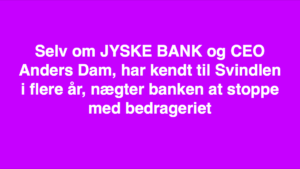JYSKE BANKs SVINDEL / FRAUD - CALL / OPRÅB :-) Can the bank director CEO Anders Dam not understand We only want to talk with the bank, JYSKE BANK And find a solution, so we can get our life back We are talking about The last 10 years, the bank provisionally has deceived us. The Danish bank took 10 years from us. :-) Please talk to us #AndersChristianDam Rather than continue deceive us With a false interest rate swap, for a loan that has not never existed We write, and write, and write, while the bank continues the very deliberate fraud which the entire Group Board is aware of. :-) :-) A case that is so inflamed, that not even the Danish press does dare comment on it. do you think that there is something about what we are writing about. Would you ask the bank management Jyske Bank Link to the bank further down Why they will not answer their customer And deliver a copy of the loan, 4.328.000 DKK as the bank claiming the customer has borrowed i Nykredit As the Danish Bank changes interest rates, for the last 10 years, Actually since January 1, 2009 - Now the customer discovered and informed the Jyske Bank Jyske 3-bold Bank May 2016 that there was no loan taken. We are talking about fraud for millions, against just one customer :-) :-) Where do you come into contact with a fraudster who just does not want to stop deceiving you Have tried for over 2 years. DO YOU HAVE A SUGGESTION :-) from www.banknyt.dk Startede i jyske bank Helsingør I.L Tvedes Vej 7. 3000 Helsingør Dagblad Godt hjulpet af jyske bank medlemmer eller ansatte på Vesterbro, Vesterbrogade 9. Men godt assisteret af jyske bank hoved kontor i Silkeborg Vestergade Hvor koncern ledelsen / bestyrelsen ved Anders Christian Dam nu hjælper til med at dette svindel fortsætter Jyske Banks advokater som lyver for retten Tilbød 2-11-2016 forligs møde Men med den agenda at ville lave en rente bytte på et andet lån, for at sløre svindlen. ------------ Journalist Press just ask Danish Bank Jyske bank why the bank does not admit fraud And start to apologize all crimes. https://www.jyskebank.dk/kontakt/afdelingsinfo?departmentid=11660 :-) #Journalist #Press When the Danish banks deceive their customers a case of fraud in Danish banks against customers :-( :-( when the #danish #banks as #jyskebank are making fraud And the gang leader, controls the bank's fraud. :-( Anders Dam Bank's CEO refuses to quit. So it only shows how criminal the Danish jyske bank is. :-) Do not trust the #JyskeBank they are #lying constantly, when the bank cheats you The fraud that is #organized through by 3 departments, and many members of the organization JYSKE BANK :-( The Danish bank jyske bank is a criminal offense, Follow the case in Danish law BS 99-698/2015 :-) :-) Thanks to all of you we meet on the road. Which gives us your full support to the fight against the Danish fraud bank. JYSKE BANK :-) :-) Please ask the bank, jyske bank if we have raised a loan of DKK 4.328.000 In Danish bank nykredit. as the bank writes to their customer who is ill after a brain bleeding - As the bank is facing Danish courts and claim is a loan behind the interest rate swap The swsp Jyske Bank itself made 16-07-2008 https://facebook.com/JyskeBank.dk/photos/a.1468232419878888.1073741869.1045397795495688/1468234663211997/?type=3&source=54&ref=page_internal :-( contact the bank here https://www.jyskebank.dk/omjyskebank/organisation/koncernledergruppe - Also ask about date and evidence that the loan offer has been withdrawn in due time before expiry :-) :-) And ask for the prompt contact to Nykredit Denmark And ask why (new credit bank) Nykredit, first would answer the question, after nykredit received a subpoena, to speak true. - Even at a meeting Nykredit refused to sign anything. Not to provide evidence against Jyske Bank for fraud - But after several letters admit Nykredit Bank on writing - There is no loan of 4.328.000 kr https://facebook.com/JyskeBank.dk/photos/a.1051107938258007.1073741840.1045397795495688/1344678722234259/?type=3&source=54&ref=page_internal :-( :-( So nothing to change interest rates https://facebook.com/JyskeBank.dk/photos/a.1045554925479975.1073741831.1045397795495688/1045554998813301/?type=3&source=54&ref=page_internal Thus admit Nykredit Bank that their friends in Jyske Bank are making fraud against Danish customers :-( :-( :-( Today June 29th claims Jyske Bank that a loan of DKK 4.328.000 Has been reduced to DKK 2.927.634 and raised interest rates DKK 81.182 https://facebook.com/JyskeBank.dk/photos/a.1046306905404777.1073741835.1045397795495688/1755579747810819/?type=3&source=54 :-) :-) Group management jyske bank know, at least since May 2016 There is no loan of 4.328.000 DKK And that has never existed. And the ceo is conscious about the fraud against the bank's customer :-) Nevertheless, the bank continues the fraud But now with the Group's Board of Directors knowledge and approval :-) The bank will not respond to anything Do you want to investigate the fraud case as a journalist? :-( :-( Fraud that the bank jyske bank has committed, over the past 10 years. :-) :-) https://facebook.com/story.php?story_fbid=10217380674608165&id=1213101334&ref=bookmarks Will make it better, when we share timeline, with link to Appendix :-) www.banknyt.dk /-----------/ #ANDERSDAM I SPIDSEN AF DEN STORE DANSKE NOK SMÅ #KRIMINELLE #BANK #JYSKEBANK Godt hjulpet af #Les www.les.dk #LundElmerSandager #Advokater :-) #JYSKE BANK BLEV OPDAGET / TAGET I AT LAVE #MANDATSVIG #BEDRAGERI #DOKUMENTFALSK #UDNYTTELSE #SVIG #FALSK :-) Banken skriver i fundamentet at jyskebank er #TROVÆRDIG #HÆDERLIG #ÆRLIG DET ER DET VI SKAL OPKLARE I DENNE HER SAG. :-) Offer spørger flere gange om jyske bank har nogle kommentar eller rettelser til www.banknyt.dk og opslag Jyske bank svare slet ikke :-) :-) We are still talking about 10 years of fraud Follow the case in Danish court Denmark Viborg BS 99-698/2015 :-) :-) Link to the bank's management jyske bank ask them please If we have borrowed DKK 4.328.000 as offered on May 20, 2008 in Nykredit The bank still take interest on this alleged loan in the 10th year. and refuses to answer anything :-) :-) Funny enough for all that loan is not existing just ask jyske bank why the bank does not admit fraud And start to apologize all crimes. https://www.jyskebank.dk/kontakt/afdelingsinfo?departmentid=11660 #Bank #AnderChristianDam #Financial #News #Press #Share #Pol #Recommendation #Sale #Firesale #AndersDam #JyskeBank #ATP #PFA #MortenUlrikGade #PhilipBaruch #LES #GF #BirgitBushThuesen #LundElmerSandager #Nykredit #MetteEgholmNielsen #Loan #Fraud #CasperDamOlsen #NicolaiHansen #gangcrimes #crimes :-) just ask jyske bank why the bank does not admit fraud And start to apologize all crimes. https://www.jyskebank.dk/kontakt/afdelingsinfo?departmentid=11660 #Koncernledelse #jyskebank #Koncernbestyrelsen #SvenBuhrkall #KurtBligaardPedersen #RinaAsmussen #PhilipBaruch #JensABorup #KeldNorup #ChristinaLykkeMunk #HaggaiKunisch #MarianneLillevang #Koncerndirektionen #AndersDam #LeifFLarsen #NielsErikJakobsen #PerSkovhus #PeterSchleidt / IMG_2483