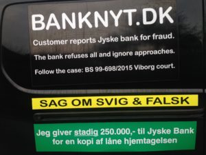 JYSKE BANKs SVINDEL / FRAUD - CALL / OPRÅB :-) Can the bank director CEO Anders Dam not understand We only want to talk with the bank, JYSKE BANK And find a solution, so we can get our life back We are talking about The last 10 years, the bank provisionally has deceived us. The Danish bank took 10 years from us. :-) Please talk to us #AndersChristianDam Rather than continue deceive us With a false interest rate swap, for a loan that has not never existed We write, and write, and write, while the bank continues the very deliberate fraud which the entire Group Board is aware of. :-) :-) A case that is so inflamed, that not even the Danish press does dare comment on it. do you think that there is something about what we are writing about. Would you ask the bank management Jyske Bank Link to the bank further down Why they will not answer their customer And deliver a copy of the loan, 4.328.000 DKK as the bank claiming the customer has borrowed i Nykredit As the Danish Bank changes interest rates, for the last 10 years, Actually since January 1, 2009 - Now the customer discovered and informed the Jyske Bank Jyske 3-bold Bank May 2016 that there was no loan taken. We are talking about fraud for millions, against just one customer :-) :-) Where do you come into contact with a fraudster who just does not want to stop deceiving you Have tried for over 2 years. DO YOU HAVE A SUGGESTION :-) from www.banknyt.dk Startede i jyske bank Helsingør I.L Tvedes Vej 7. 3000 Helsingør Dagblad Godt hjulpet af jyske bank medlemmer eller ansatte på Vesterbro, Vesterbrogade 9. Men godt assisteret af jyske bank hoved kontor i Silkeborg Vestergade Hvor koncern ledelsen / bestyrelsen ved Anders Christian Dam nu hjælper til med at dette svindel fortsætter Jyske Banks advokater som lyver for retten Tilbød 2-11-2016 forligs møde Men med den agenda at ville lave en rente bytte på et andet lån, for at sløre svindlen. ------------ Journalist Press just ask Danish Bank Jyske bank why the bank does not admit fraud And start to apologize all crimes. https://www.jyskebank.dk/kontakt/afdelingsinfo?departmentid=11660 :-) #Journalist #Press When the Danish banks deceive their customers a case of fraud in Danish banks against customers :-( :-( when the #danish #banks as #jyskebank are making fraud And the gang leader, controls the bank's fraud. :-( Anders Dam Bank's CEO refuses to quit. So it only shows how criminal the Danish jyske bank is. :-) Do not trust the #JyskeBank they are #lying constantly, when the bank cheats you The fraud that is #organized through by 3 departments, and many members of the organization JYSKE BANK :-( The Danish bank jyske bank is a criminal offense, Follow the case in Danish law BS 99-698/2015 :-) :-) Thanks to all of you we meet on the road. Which gives us your full support to the fight against the Danish fraud bank. JYSKE BANK :-) :-) Please ask the bank, jyske bank if we have raised a loan of DKK 4.328.000 In Danish bank nykredit. as the bank writes to their customer who is ill after a brain bleeding - As the bank is facing Danish courts and claim is a loan behind the interest rate swap The swsp Jyske Bank itself made 16-07-2008 https://facebook.com/JyskeBank.dk/photos/a.1468232419878888.1073741869.1045397795495688/1468234663211997/?type=3&source=54&ref=page_internal :-( contact the bank here https://www.jyskebank.dk/omjyskebank/organisation/koncernledergruppe - Also ask about date and evidence that the loan offer has been withdrawn in due time before expiry :-) :-) And ask for the prompt contact to Nykredit Denmark And ask why (new credit bank) Nykredit, first would answer the question, after nykredit received a subpoena, to speak true. - Even at a meeting Nykredit refused to sign anything. Not to provide evidence against Jyske Bank for fraud - But after several letters admit Nykredit Bank on writing - There is no loan of 4.328.000 kr https://facebook.com/JyskeBank.dk/photos/a.1051107938258007.1073741840.1045397795495688/1344678722234259/?type=3&source=54&ref=page_internal :-( :-( So nothing to change interest rates https://facebook.com/JyskeBank.dk/photos/a.1045554925479975.1073741831.1045397795495688/1045554998813301/?type=3&source=54&ref=page_internal Thus admit Nykredit Bank that their friends in Jyske Bank are making fraud against Danish customers :-( :-( :-( Today June 29th claims Jyske Bank that a loan of DKK 4.328.000 Has been reduced to DKK 2.927.634 and raised interest rates DKK 81.182 https://facebook.com/JyskeBank.dk/photos/a.1046306905404777.1073741835.1045397795495688/1755579747810819/?type=3&source=54 :-) :-) Group management jyske bank know, at least since May 2016 There is no loan of 4.328.000 DKK And that has never existed. And the ceo is conscious about the fraud against the bank's customer :-) Nevertheless, the bank continues the fraud But now with the Group's Board of Directors knowledge and approval :-) The bank will not respond to anything Do you want to investigate the fraud case as a journalist? :-( :-( Fraud that the bank jyske bank has committed, over the past 10 years. :-) :-) https://facebook.com/story.php?story_fbid=10217380674608165&id=1213101334&ref=bookmarks Will make it better, when we share timeline, with link to Appendix :-) www.banknyt.dk /-----------/ #ANDERSDAM I SPIDSEN AF DEN STORE DANSKE NOK SMÅ #KRIMINELLE #BANK #JYSKEBANK Godt hjulpet af #Les www.les.dk #LundElmerSandager #Advokater :-) #JYSKE BANK BLEV OPDAGET / TAGET I AT LAVE #MANDATSVIG #BEDRAGERI #DOKUMENTFALSK #UDNYTTELSE #SVIG #FALSK :-) Banken skriver i fundamentet at jyskebank er #TROVÆRDIG #HÆDERLIG #ÆRLIG DET ER DET VI SKAL OPKLARE I DENNE HER SAG. :-) Offer spørger flere gange om jyske bank har nogle kommentar eller rettelser til www.banknyt.dk og opslag Jyske bank svare slet ikke :-) :-) We are still talking about 10 years of fraud Follow the case in Danish court Denmark Viborg BS 99-698/2015 :-) :-) Link to the bank's management jyske bank ask them please If we have borrowed DKK 4.328.000 as offered on May 20, 2008 in Nykredit The bank still take interest on this alleged loan in the 10th year. and refuses to answer anything :-) :-) Funny enough for all that loan is not existing just ask jyske bank why the bank does not admit fraud And start to apologize all crimes. https://www.jyskebank.dk/kontakt/afdelingsinfo?departmentid=11660 #Bank #AnderChristianDam #Financial #News #Press #Share #Pol #Recommendation #Sale #Firesale #AndersDam #JyskeBank #ATP #PFA #MortenUlrikGade #PhilipBaruch #LES #GF #BirgitBushThuesen #LundElmerSandager #Nykredit #MetteEgholmNielsen #Loan #Fraud #CasperDamOlsen #NicolaiHansen #gangcrimes #crimes :-) just ask jyske bank why the bank does not admit fraud And start to apologize all crimes. https://www.jyskebank.dk/kontakt/afdelingsinfo?departmentid=11660 #Koncernledelse #jyskebank #Koncernbestyrelsen #SvenBuhrkall #KurtBligaardPedersen #RinaAsmussen #PhilipBaruch #JensABorup #KeldNorup #ChristinaLykkeMunk #HaggaiKunisch #MarianneLillevang #Koncerndirektionen #AndersDam #LeifFLarsen #NielsErikJakobsen #PerSkovhus #PeterSchleidt / IMG_2656