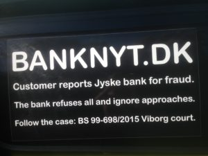 JYSKE BANKs SVINDEL / FRAUD - CALL / OPRÅB :-) Can the bank director CEO Anders Dam not understand We only want to talk with the bank, JYSKE BANK And find a solution, so we can get our life back We are talking about The last 10 years, the bank provisionally has deceived us. The Danish bank took 10 years from us. :-) Please talk to us #AndersChristianDam Rather than continue deceive us With a false interest rate swap, for a loan that has not never existed We write, and write, and write, while the bank continues the very deliberate fraud which the entire Group Board is aware of. :-) :-) A case that is so inflamed, that not even the Danish press does dare comment on it. do you think that there is something about what we are writing about. Would you ask the bank management Jyske Bank Link to the bank further down Why they will not answer their customer And deliver a copy of the loan, 4.328.000 DKK as the bank claiming the customer has borrowed i Nykredit As the Danish Bank changes interest rates, for the last 10 years, Actually since January 1, 2009 - Now the customer discovered and informed the Jyske Bank Jyske 3-bold Bank May 2016 that there was no loan taken. We are talking about fraud for millions, against just one customer :-) :-) Where do you come into contact with a fraudster who just does not want to stop deceiving you Have tried for over 2 years. DO YOU HAVE A SUGGESTION :-) from www.banknyt.dk Startede i jyske bank Helsingør I.L Tvedes Vej 7. 3000 Helsingør Dagblad Godt hjulpet af jyske bank medlemmer eller ansatte på Vesterbro, Vesterbrogade 9. Men godt assisteret af jyske bank hoved kontor i Silkeborg Vestergade Hvor koncern ledelsen / bestyrelsen ved Anders Christian Dam nu hjælper til med at dette svindel fortsætter Jyske Banks advokater som lyver for retten Tilbød 2-11-2016 forligs møde Men med den agenda at ville lave en rente bytte på et andet lån, for at sløre svindlen. ------------ Journalist Press just ask Danish Bank Jyske bank why the bank does not admit fraud And start to apologize all crimes. https://www.jyskebank.dk/kontakt/afdelingsinfo?departmentid=11660 :-) #Journalist #Press When the Danish banks deceive their customers a case of fraud in Danish banks against customers :-( :-( when the #danish #banks as #jyskebank are making fraud And the gang leader, controls the bank's fraud. :-( Anders Dam Bank's CEO refuses to quit. So it only shows how criminal the Danish jyske bank is. :-) Do not trust the #JyskeBank they are #lying constantly, when the bank cheats you The fraud that is #organized through by 3 departments, and many members of the organization JYSKE BANK :-( The Danish bank jyske bank is a criminal offense, Follow the case in Danish law BS 99-698/2015 :-) :-) Thanks to all of you we meet on the road. Which gives us your full support to the fight against the Danish fraud bank. JYSKE BANK :-) :-) Please ask the bank, jyske bank if we have raised a loan of DKK 4.328.000 In Danish bank nykredit. as the bank writes to their customer who is ill after a brain bleeding - As the bank is facing Danish courts and claim is a loan behind the interest rate swap The swsp Jyske Bank itself made 16-07-2008 https://facebook.com/JyskeBank.dk/photos/a.1468232419878888.1073741869.1045397795495688/1468234663211997/?type=3&source=54&ref=page_internal :-( contact the bank here https://www.jyskebank.dk/omjyskebank/organisation/koncernledergruppe - Also ask about date and evidence that the loan offer has been withdrawn in due time before expiry :-) :-) And ask for the prompt contact to Nykredit Denmark And ask why (new credit bank) Nykredit, first would answer the question, after nykredit received a subpoena, to speak true. - Even at a meeting Nykredit refused to sign anything. Not to provide evidence against Jyske Bank for fraud - But after several letters admit Nykredit Bank on writing - There is no loan of 4.328.000 kr https://facebook.com/JyskeBank.dk/photos/a.1051107938258007.1073741840.1045397795495688/1344678722234259/?type=3&source=54&ref=page_internal :-( :-( So nothing to change interest rates https://facebook.com/JyskeBank.dk/photos/a.1045554925479975.1073741831.1045397795495688/1045554998813301/?type=3&source=54&ref=page_internal Thus admit Nykredit Bank that their friends in Jyske Bank are making fraud against Danish customers :-( :-( :-( Today June 29th claims Jyske Bank that a loan of DKK 4.328.000 Has been reduced to DKK 2.927.634 and raised interest rates DKK 81.182 https://facebook.com/JyskeBank.dk/photos/a.1046306905404777.1073741835.1045397795495688/1755579747810819/?type=3&source=54 :-) :-) Group management jyske bank know, at least since May 2016 There is no loan of 4.328.000 DKK And that has never existed. And the ceo is conscious about the fraud against the bank's customer :-) Nevertheless, the bank continues the fraud But now with the Group's Board of Directors knowledge and approval :-) The bank will not respond to anything Do you want to investigate the fraud case as a journalist? :-( :-( Fraud that the bank jyske bank has committed, over the past 10 years. :-) :-) https://facebook.com/story.php?story_fbid=10217380674608165&id=1213101334&ref=bookmarks Will make it better, when we share timeline, with link to Appendix :-) www.banknyt.dk /-----------/ #ANDERSDAM I SPIDSEN AF DEN STORE DANSKE NOK SMÅ #KRIMINELLE #BANK #JYSKEBANK Godt hjulpet af #Les www.les.dk #LundElmerSandager #Advokater :-) #JYSKE BANK BLEV OPDAGET / TAGET I AT LAVE #MANDATSVIG #BEDRAGERI #DOKUMENTFALSK #UDNYTTELSE #SVIG #FALSK :-) Banken skriver i fundamentet at jyskebank er #TROVÆRDIG #HÆDERLIG #ÆRLIG DET ER DET VI SKAL OPKLARE I DENNE HER SAG. :-) Offer spørger flere gange om jyske bank har nogle kommentar eller rettelser til www.banknyt.dk og opslag Jyske bank svare slet ikke :-) :-) We are still talking about 10 years of fraud Follow the case in Danish court Denmark Viborg BS 99-698/2015 :-) :-) Link to the bank's management jyske bank ask them please If we have borrowed DKK 4.328.000 as offered on May 20, 2008 in Nykredit The bank still take interest on this alleged loan in the 10th year. and refuses to answer anything :-) :-) Funny enough for all that loan is not existing just ask jyske bank why the bank does not admit fraud And start to apologize all crimes. https://www.jyskebank.dk/kontakt/afdelingsinfo?departmentid=11660 #Bank #AnderChristianDam #Financial #News #Press #Share #Pol #Recommendation #Sale #Firesale #AndersDam #JyskeBank #ATP #PFA #MortenUlrikGade #PhilipBaruch #LES #GF #BirgitBushThuesen #LundElmerSandager #Nykredit #MetteEgholmNielsen #Loan #Fraud #CasperDamOlsen #NicolaiHansen #gangcrimes #crimes :-) just ask jyske bank why the bank does not admit fraud And start to apologize all crimes. https://www.jyskebank.dk/kontakt/afdelingsinfo?departmentid=11660 #Koncernledelse #jyskebank #Koncernbestyrelsen #SvenBuhrkall #KurtBligaardPedersen #RinaAsmussen #PhilipBaruch #JensABorup #KeldNorup #ChristinaLykkeMunk #HaggaiKunisch #MarianneLillevang #Koncerndirektionen #AndersDam #LeifFLarsen #NielsErikJakobsen #PerSkovhus #PeterSchleidt / IMG_3090