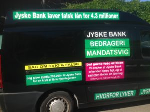 JYSKE BANKs SVINDEL / FRAUD - CALL / OPRÅB :-) Can the bank director CEO Anders Dam not understand We only want to talk with the bank, JYSKE BANK And find a solution, so we can get our life back We are talking about The last 10 years, the bank provisionally has deceived us. The Danish bank took 10 years from us. :-) Please talk to us #AndersChristianDam Rather than continue deceive us With a false interest rate swap, for a loan that has not never existed We write, and write, and write, while the bank continues the very deliberate fraud which the entire Group Board is aware of. :-) :-) A case that is so inflamed, that not even the Danish press does dare comment on it. do you think that there is something about what we are writing about. Would you ask the bank management Jyske Bank Link to the bank further down Why they will not answer their customer And deliver a copy of the loan, 4.328.000 DKK as the bank claiming the customer has borrowed i Nykredit As the Danish Bank changes interest rates, for the last 10 years, Actually since January 1, 2009 - Now the customer discovered and informed the Jyske Bank Jyske 3-bold Bank May 2016 that there was no loan taken. We are talking about fraud for millions, against just one customer :-) :-) Where do you come into contact with a fraudster who just does not want to stop deceiving you Have tried for over 2 years. DO YOU HAVE A SUGGESTION :-) from www.banknyt.dk Startede i jyske bank Helsingør I.L Tvedes Vej 7. 3000 Helsingør Dagblad Godt hjulpet af jyske bank medlemmer eller ansatte på Vesterbro, Vesterbrogade 9. Men godt assisteret af jyske bank hoved kontor i Silkeborg Vestergade Hvor koncern ledelsen / bestyrelsen ved Anders Christian Dam nu hjælper til med at dette svindel fortsætter Jyske Banks advokater som lyver for retten Tilbød 2-11-2016 forligs møde Men med den agenda at ville lave en rente bytte på et andet lån, for at sløre svindlen. ------------ Journalist Press just ask Danish Bank Jyske bank why the bank does not admit fraud And start to apologize all crimes. https://www.jyskebank.dk/kontakt/afdelingsinfo?departmentid=11660 :-) #Journalist #Press When the Danish banks deceive their customers a case of fraud in Danish banks against customers :-( :-( when the #danish #banks as #jyskebank are making fraud And the gang leader, controls the bank's fraud. :-( Anders Dam Bank's CEO refuses to quit. So it only shows how criminal the Danish jyske bank is. :-) Do not trust the #JyskeBank they are #lying constantly, when the bank cheats you The fraud that is #organized through by 3 departments, and many members of the organization JYSKE BANK :-( The Danish bank jyske bank is a criminal offense, Follow the case in Danish law BS 99-698/2015 :-) :-) Thanks to all of you we meet on the road. Which gives us your full support to the fight against the Danish fraud bank. JYSKE BANK :-) :-) Please ask the bank, jyske bank if we have raised a loan of DKK 4.328.000 In Danish bank nykredit. as the bank writes to their customer who is ill after a brain bleeding - As the bank is facing Danish courts and claim is a loan behind the interest rate swap The swsp Jyske Bank itself made 16-07-2008 https://facebook.com/JyskeBank.dk/photos/a.1468232419878888.1073741869.1045397795495688/1468234663211997/?type=3&source=54&ref=page_internal :-( contact the bank here https://www.jyskebank.dk/omjyskebank/organisation/koncernledergruppe - Also ask about date and evidence that the loan offer has been withdrawn in due time before expiry :-) :-) And ask for the prompt contact to Nykredit Denmark And ask why (new credit bank) Nykredit, first would answer the question, after nykredit received a subpoena, to speak true. - Even at a meeting Nykredit refused to sign anything. Not to provide evidence against Jyske Bank for fraud - But after several letters admit Nykredit Bank on writing - There is no loan of 4.328.000 kr https://facebook.com/JyskeBank.dk/photos/a.1051107938258007.1073741840.1045397795495688/1344678722234259/?type=3&source=54&ref=page_internal :-( :-( So nothing to change interest rates https://facebook.com/JyskeBank.dk/photos/a.1045554925479975.1073741831.1045397795495688/1045554998813301/?type=3&source=54&ref=page_internal Thus admit Nykredit Bank that their friends in Jyske Bank are making fraud against Danish customers :-( :-( :-( Today June 29th claims Jyske Bank that a loan of DKK 4.328.000 Has been reduced to DKK 2.927.634 and raised interest rates DKK 81.182 https://facebook.com/JyskeBank.dk/photos/a.1046306905404777.1073741835.1045397795495688/1755579747810819/?type=3&source=54 :-) :-) Group management jyske bank know, at least since May 2016 There is no loan of 4.328.000 DKK And that has never existed. And the ceo is conscious about the fraud against the bank's customer :-) Nevertheless, the bank continues the fraud But now with the Group's Board of Directors knowledge and approval :-) The bank will not respond to anything Do you want to investigate the fraud case as a journalist? :-( :-( Fraud that the bank jyske bank has committed, over the past 10 years. :-) :-) https://facebook.com/story.php?story_fbid=10217380674608165&id=1213101334&ref=bookmarks Will make it better, when we share timeline, with link to Appendix :-) www.banknyt.dk /-----------/ #ANDERSDAM I SPIDSEN AF DEN STORE DANSKE NOK SMÅ #KRIMINELLE #BANK #JYSKEBANK Godt hjulpet af #Les www.les.dk #LundElmerSandager #Advokater :-) #JYSKE BANK BLEV OPDAGET / TAGET I AT LAVE #MANDATSVIG #BEDRAGERI #DOKUMENTFALSK #UDNYTTELSE #SVIG #FALSK :-) Banken skriver i fundamentet at jyskebank er #TROVÆRDIG #HÆDERLIG #ÆRLIG DET ER DET VI SKAL OPKLARE I DENNE HER SAG. :-) Offer spørger flere gange om jyske bank har nogle kommentar eller rettelser til www.banknyt.dk og opslag Jyske bank svare slet ikke :-) :-) We are still talking about 10 years of fraud Follow the case in Danish court Denmark Viborg BS 99-698/2015 :-) :-) Link to the bank's management jyske bank ask them please If we have borrowed DKK 4.328.000 as offered on May 20, 2008 in Nykredit The bank still take interest on this alleged loan in the 10th year. and refuses to answer anything :-) :-) Funny enough for all that loan is not existing just ask jyske bank why the bank does not admit fraud And start to apologize all crimes. https://www.jyskebank.dk/kontakt/afdelingsinfo?departmentid=11660 #Bank #AnderChristianDam #Financial #News #Press #Share #Pol #Recommendation #Sale #Firesale #AndersDam #JyskeBank #ATP #PFA #MortenUlrikGade #PhilipBaruch #LES #GF #BirgitBushThuesen #LundElmerSandager #Nykredit #MetteEgholmNielsen #Loan #Fraud #CasperDamOlsen #NicolaiHansen #gangcrimes #crimes :-) just ask jyske bank why the bank does not admit fraud And start to apologize all crimes. https://www.jyskebank.dk/kontakt/afdelingsinfo?departmentid=11660 #Koncernledelse #jyskebank #Koncernbestyrelsen #SvenBuhrkall #KurtBligaardPedersen #RinaAsmussen #PhilipBaruch #JensABorup #KeldNorup #ChristinaLykkeMunk #HaggaiKunisch #MarianneLillevang #Koncerndirektionen #AndersDam #LeifFLarsen #NielsErikJakobsen #PerSkovhus #PeterSchleidt / IMG_3099