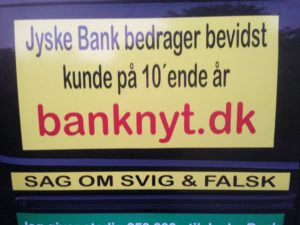 JYSKE BANKs SVINDEL / FRAUD - CALL / OPRÅB   :-)  Can the bank director CEO Anders Dam not understand   We only want to talk with the bank, JYSKE BANK  And find a solution, so we can get our life back  We are talking about The last 10 years, the bank provisionally has deceived us.  The Danish bank took 10 years from us.  :-)  Please talk to us #AndersChristianDam Rather than continue deceive us   With a false interest rate swap, for a loan that has not never existed  We write, and write, and write, while the bank continues the very deliberate fraud  which the entire Group Board is aware of.  :-) :-)  A case that is so inflamed, that not even the Danish press does dare comment on it.   do you think that there is something about what we are writing about.  Would you ask the bank management Jyske Bank Link to the bank further down  Why they will not answer their customer   And deliver a copy of the loan, 4.328.000 DKK  as the bank claiming the customer has borrowed i Nykredit   As the Danish Bank changes interest rates, for the last 10 years, Actually since January 1, 2009  -  Now the customer discovered and informed the Jyske Bank Jyske 3-bold Bank May 2016 that there was no loan taken.  We are talking about fraud for millions, against just one customer  :-) :-)  Where do you come into contact with a fraudster who just does not want to stop deceiving you  Have tried for over 2 years. DO YOU HAVE A SUGGESTION  :-)  from www.banknyt.dk  Startede i jyske bank Helsingør  I.L Tvedes Vej 7. 3000 Helsingør Dagblad  Godt hjulpet af jyske bank medlemmer eller ansatte på Vesterbro, Vesterbrogade 9.   Men godt assisteret af jyske bank hoved kontor i Silkeborg Vestergade   Hvor koncern ledelsen / bestyrelsen ved Anders Christian Dam nu hjælper til med at dette svindel fortsætter   Jyske Banks advokater som lyver for retten  Tilbød 2-11-2016 forligs møde   Men med den agenda  at ville lave en rente bytte på et andet lån, for at sløre svindlen.  ------------  Journalist Press just ask Danish Bank Jyske bank   why the bank does not admit fraud  And start to apologize all crimes.  https://www.jyskebank.dk/kontakt/afdelingsinfo?departmentid=11660  :-)  #Journalist #Press   When the Danish banks deceive their customers  a case of fraud in Danish banks against customers  :-( :-(  when the #danish #banks as #jyskebank are making fraud  And the gang leader, controls the bank's fraud.  :-(  Anders Dam Bank's CEO refuses to quit.   So it only shows how criminal the Danish jyske bank is.  :-)  Do not trust the #JyskeBank  they are #lying constantly, when the bank cheats you  The fraud that is #organized through by 3 departments, and many members of the organization JYSKE BANK  :-(  The Danish bank jyske bank is a criminal offense,   Follow the case in Danish law BS 99-698/2015   :-) :-)  Thanks to all of you we meet on the road.  Which gives us your full support to the fight against the Danish fraud bank.  JYSKE BANK  :-) :-)  Please ask the bank, jyske bank if we have raised a loan of DKK 4.328.000   In Danish bank nykredit. as the bank writes to their customer who is ill after a brain bleeding  -  As the bank is facing Danish courts and claim is a loan behind the interest rate swap  The swsp Jyske Bank itself made 16-07-2008  https://facebook.com/JyskeBank.dk/photos/a.1468232419878888.1073741869.1045397795495688/1468234663211997/?type=3&source=54&ref=page_internal  :-(  contact the bank here  https://www.jyskebank.dk/omjyskebank/organisation/koncernledergruppe  -  Also ask about date and evidence that the loan offer has been withdrawn in due time before expiry  :-) :-)  And ask for the prompt contact to Nykredit Denmark   And ask why (new credit bank) Nykredit, first would answer the question, after nykredit received a subpoena, to speak true.  -  Even at a meeting  Nykredit refused to sign anything.  Not to provide evidence against Jyske Bank for fraud  -  But after several letters admit Nykredit Bank on writing  -  There is no loan of 4.328.000 kr  https://facebook.com/JyskeBank.dk/photos/a.1051107938258007.1073741840.1045397795495688/1344678722234259/?type=3&source=54&ref=page_internal  :-( :-(  So nothing to change interest rates  https://facebook.com/JyskeBank.dk/photos/a.1045554925479975.1073741831.1045397795495688/1045554998813301/?type=3&source=54&ref=page_internal  Thus admit Nykredit Bank that their friends in Jyske Bank are making fraud against Danish customers  :-( :-( :-(  Today June 29th claims Jyske Bank that a loan of DKK 4.328.000   Has been reduced to DKK 2.927.634  and raised interest rates DKK 81.182   https://facebook.com/JyskeBank.dk/photos/a.1046306905404777.1073741835.1045397795495688/1755579747810819/?type=3&source=54  :-) :-)  Group management jyske bank know, at least since May 2016  There is no loan of 4.328.000 DKK And that has never existed.  And the ceo is conscious about the fraud against the bank's customer  :-)  Nevertheless, the bank continues the fraud  But now with the Group's Board of Directors knowledge and approval  :-)  The bank will not respond to anything  Do you want to investigate the fraud case as a journalist?  :-( :-(  Fraud that the bank jyske bank has committed, over the past 10 years.  :-) :-)  https://facebook.com/story.php?story_fbid=10217380674608165&id=1213101334&ref=bookmarks   Will make it better, when we share timeline, with link to Appendix  :-)  www.banknyt.dk  /-----------/  #ANDERSDAM I SPIDSEN AF DEN STORE DANSKE NOK SMÅ #KRIMINELLE #BANK #JYSKEBANK   Godt hjulpet af #Les www.les.dk #LundElmerSandager #Advokater  :-)  #JYSKE BANK BLEV OPDAGET / TAGET I AT LAVE   #MANDATSVIG #BEDRAGERI #DOKUMENTFALSK  #UDNYTTELSE  #SVIG #FALSK   :-)  Banken skriver i fundamentet at jyskebank er   #TROVÆRDIG  #HÆDERLIG  #ÆRLIG  DET ER DET VI SKAL OPKLARE I DENNE HER SAG.  :-)  Offer spørger flere gange om jyske bank har nogle kommentar eller rettelser til   www.banknyt.dk og opslag   Jyske bank svare slet ikke   :-) :-)  We are still talking about 10 years of fraud  Follow the case in Danish court Denmark Viborg  BS 99-698/2015  :-) :-)  Link to the bank's management jyske bank  ask them please  If we have borrowed DKK 4.328.000 as offered on May 20, 2008 in Nykredit  The bank still take interest on this alleged loan in the 10th year.  and refuses to answer anything  :-) :-)  Funny enough  for all that loan is not existing  just ask jyske bank  why the bank does not admit fraud  And start to apologize all crimes.  https://www.jyskebank.dk/kontakt/afdelingsinfo?departmentid=11660  #Bank #AnderChristianDam  #Financial #News #Press #Share #Pol #Recommendation #Sale #Firesale #AndersDam #JyskeBank #ATP #PFA #MortenUlrikGade #PhilipBaruch #LES #GF #BirgitBushThuesen #LundElmerSandager #Nykredit #MetteEgholmNielsen #Loan #Fraud #CasperDamOlsen #NicolaiHansen    #gangcrimes #crimes   :-)  just ask jyske bank  why the bank does not admit fraud  And start to apologize all crimes.  https://www.jyskebank.dk/kontakt/afdelingsinfo?departmentid=11660  #Koncernledelse #jyskebank  #Koncernbestyrelsen #SvenBuhrkall #KurtBligaardPedersen #RinaAsmussen #PhilipBaruch #JensABorup #KeldNorup #ChristinaLykkeMunk #HaggaiKunisch #MarianneLillevang #Koncerndirektionen #AndersDam #LeifFLarsen #NielsErikJakobsen #PerSkovhus #PeterSchleidt  / IMG_3106