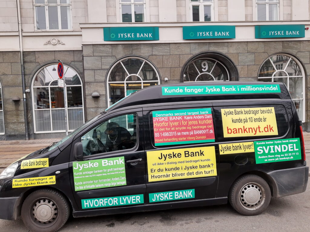 Bribery is not only a problem of Danish society. When a client hires Lundgrens Advokater, to file a case of fraud, executed against a Danish bank customer in Jyske Bank. And the client clearly and clearly tells Lundgren's attorneys that the fraud crime was committed by Jyske Bank, and this is done with the Group management's knowledge, and certainly contributes to the client in the case BS-402/2015-VIB When the customer saw over 1 year. after Lundgren's lawyer b occurred and shortly after the lawyers had been hired to file a fraud case against Jyske Bank. Discover that even the same Lundgren's lawyer company, has been employed by the Jyske Bank Group, in a trade for DKK 600 million. And the client also discovers that Lundgren's lawyers have countered that some of their client's claims were brought to court. When Lundgrens directly against the client's instructions, does not present any of the client's claims against Jyske Bank, which the client has many times given Lundgrens Advokater clear instructions to submit. What do you call it if Jyske Bank did not pay Lundgren's Return commission by giving Lundgren's lawyer partner company a million orders. Should Lundgren's Attorneys not be reported to the lawyer mentioned, as a total lawyer's house, since Lundgren's partner has all taken oaths. paragraph 10.4 of Lundgren's set of rules. When it comes to violation of good attorney practice, and possible receipt of return commission in the form of million work for Jyske Bank, neither Lundgrens nor Jyske Bank's Executive Board should hide the truth when the client only seeks the truth about the danish bank Jyske Bank's real foundation.