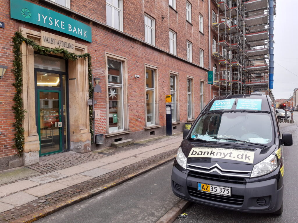 The Danish Bank Jyske Bank in Copenhagen Business Valby. Denmark - Jyske Bank where the fraud against the bank's customer began back in 2008/2009 and with the help of Jyske Bank's branch at Vesterbrogade in Copenhagen