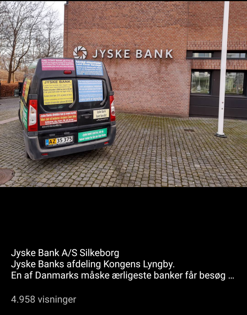 Jyske Bank Kongens Lyngby erhverv. / Danske Bank / Bribery is not only a problem of Danish society. When a client hires Lundgrens Advokater, to file a case of fraud, executed against a Danish bank customer in Jyske Bank. And the client clearly and clearly tells Lundgren's attorneys that the fraud crime was committed by Jyske Bank, and this is done with the Group management's knowledge, and certainly contributes to the client in the case BS-402/2015-VIB When the customer saw over 1 year. after Lundgren's lawyer b occurred and shortly after the lawyers had been hired to file a fraud case against Jyske Bank. Discover that even the same Lundgren's lawyer company, has been employed by the Jyske Bank Group, in a trade for DKK 600 million. And the client also discovers that Lundgren's lawyers have countered that some of their client's claims were brought to court. When Lundgrens directly against the client's instructions, does not present any of the client's claims against Jyske Bank, which the client has many times given Lundgrens Advokater clear instructions to submit. What do you call it if Jyske Bank did not pay Lundgren's Return commission by giving Lundgren's lawyer partner company a million orders. Should Lundgren's Attorneys not be reported to the lawyer mentioned, as a total lawyer's house, since Lundgren's partner has all taken oaths. paragraph 10.4 of Lundgren's set of rules. When it comes to violating good attorney custom, and possible