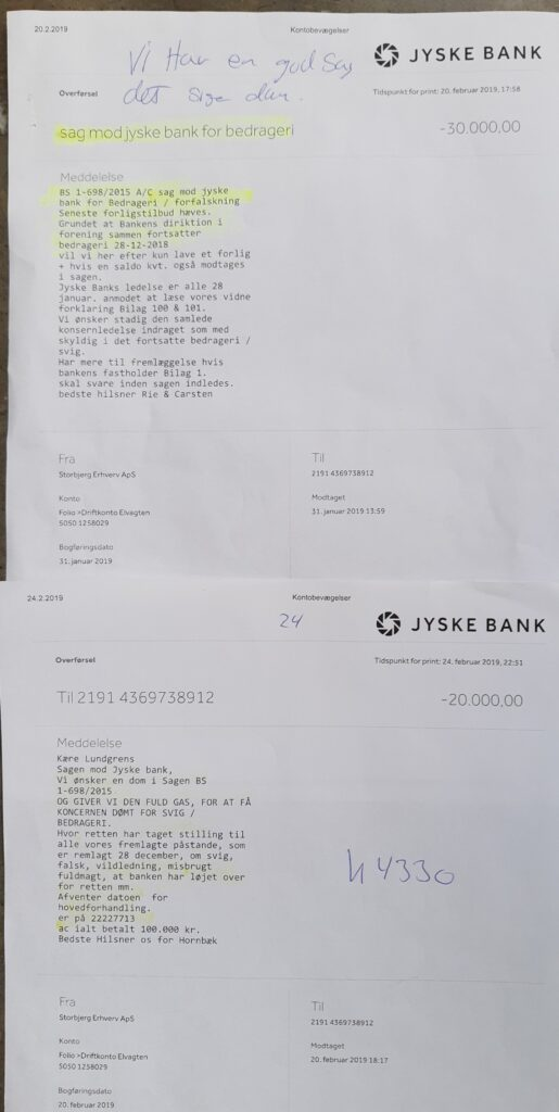 No customer in a bank should be afraid that some banks' management wants to expose their customers to fraud. - But in Denmark there is every reason, not to trust some big danish banks. - The fight against Denmark's probably most criminal bank, aided by corrupt lawyers. - Jyske Bank, Anders Christian Dam. Bente Overgaard 2020 nyt medlem Anker Laden-Andersen 2019 Per Schnack 2019 Sven Buhrkall 2019 Kurt Bligaard Pedersen 2019 Rina Asmussen 2019 Philip Baruch 2019 Jens A Borup 2019 Keld Norup 2019 Christina Lykke Munk 2019 Haggai Kunisch 2018 Johnny Christensen 2019 Marianne Lillevang 2019 Anders Dam 2019 Leif F Larsen 2018 Niels Erik Jakobsen 2019 Per Skovhus 2019 Peter Schleidt 2019 Bente Overgaard 2020 nyt medlem af Jyske Banks bestyrelse, efter et top job i Nykredit, som hjalp Jyske Banks bestyrelse med at dække over Jyske Banks svigforretninger.