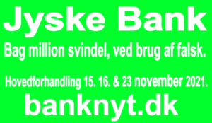 Should Jysk Bank A/S be closed, due to the bank's completely deliberate million fraudulent businesses. Join the main hearing, 15. 16 and 23 November 2021. Viborg court. Banking news. About the Danish bank Jyske Bank, which has been taken for use of forgery and fraud, our former Lundgren lawyers who was hired to present the case to the court, was subsequently bought by Jyske bank to damage our case, and withhold our claim in court.