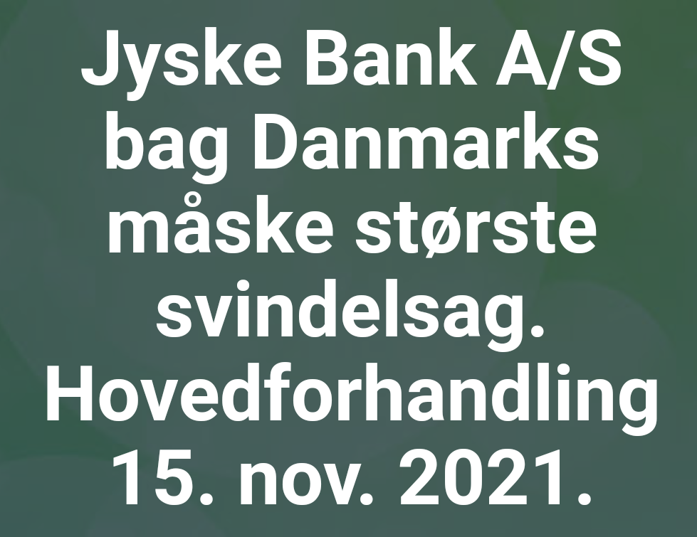 Bribery at the top of the Danish business seems to have been politically approved. Following Jyske Bank's fraud case, Lundgren's lawyer partner company paid several million Danish kroner, moreover, the same Lundgren's lawyers who would bring a case against the Danish bank Jyske Bank for fraud. Which Lundgren's lawyer partner company regrettably forgot to submit to the court. That it happened according to Jyske Bank's management, certainly by CEO Anders Dam who is directly contributing to Jyske Bank's continued crimes. When Jyske Bank then chose to give the large law firm Lundgren's lawyers a huge order. it became very clear that the overall board of directors of Jyske Bank continues to expose the customer to very serious fraud transactions. And that Jyske Bank's board of directors is still behind millions of scams and now probably also corruption. All to disappoint in legal matters, and to serve the shareholders in the Danish Bank's financial interests.