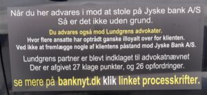 In Denmark, the largest companies stick together against their customers to milk them as much as possible, follow the thread from Jyske Bank's board, and first see their relations with both public and private companies, all the way up to the Folketing, out of approx. 3,500 business leaders, there are approx. 258 top executives who sovereignly control the Danish economy, for example take the scandal where Denmark sold Dong to Goldman Sachs for between 10 and 20% of the real value, this trade also has thick threads for Jyske Bank's board, where participants were subsequently rewarded with powerful board positions . There are only quite a few people who can, and will, investigate and publish this web of lies and deception as soon as it comes to organized crime, which the management of Jyske Bank is involved in, I can only point out that there is a large problem in Denmark, which is not getting smaller. Denmark needs a state bank, instead of as now, where the state pays some criminal Danish banks, to make public transactions.